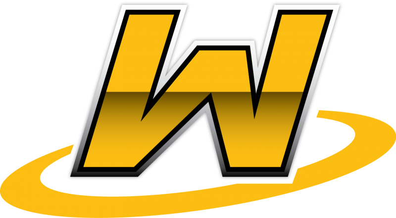 Wangaratta Ultimate logo: a yellow W with a yellow ring around it